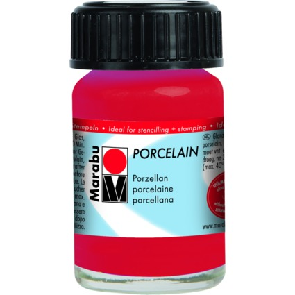 "Marabu Porzellanfarbe ""Porcelain"", kirsche, 15 ml"