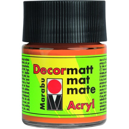 "Marabu Acrylfarbe ""Decormatt"", orange, 50 ml, im Glas"