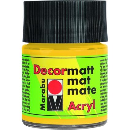 "Marabu Acrylfarbe ""Decormatt"", mittelgelb, 50 ml, im Glas"
