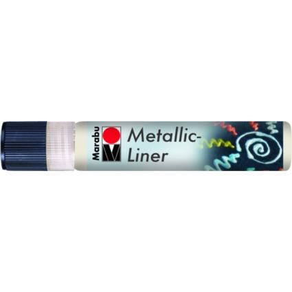 "Marabu Metallicfarbe ""Metallic-Liner"", metallic-weiß, 25 ml"