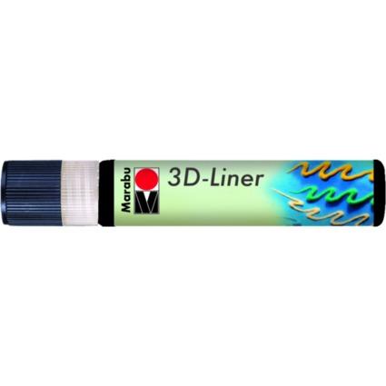 "Marabu Relieffarbe ""3D-Liner"", 3D-schwarz, 25 ml"
