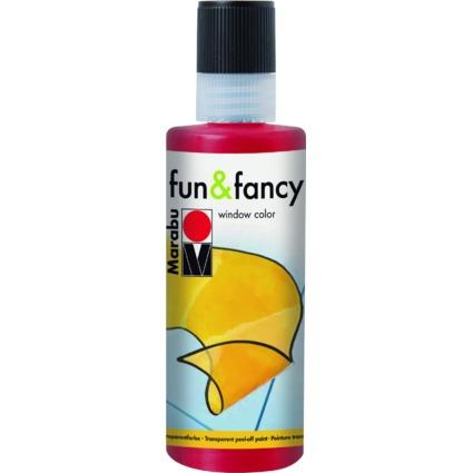 """Marabu Window Color """"fun & fancy"""", 80 ml, rubinrot"""