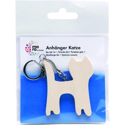 "mara by Marabu Schlüsselanhänger ""Katze"", aus Holz"
