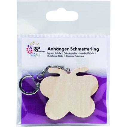 """mara by Marabu Schlüsselanhänger """"Schmetterling"""", aus Holz"""