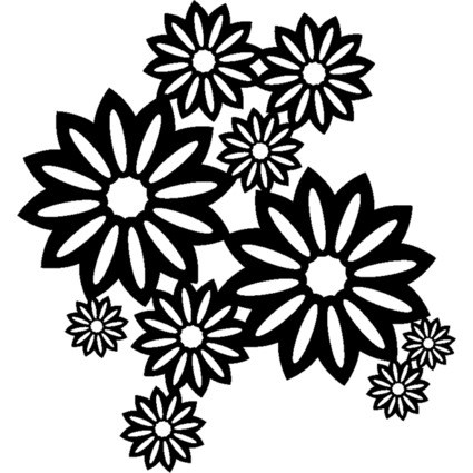 """Marabu Silhouetten-Motivschablone """"Wild Blossoms"""""""