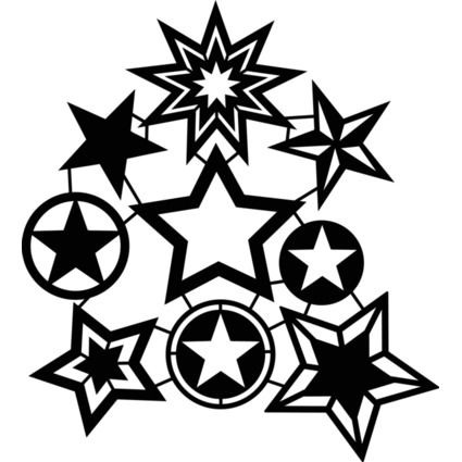 "Marabu Silhouetten-Motivschablone ""Star Collection"""