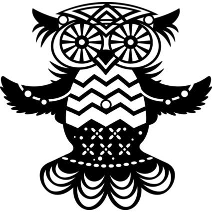 """Marabu Silhouetten-Motivschablone """"Flying Owl"""""""