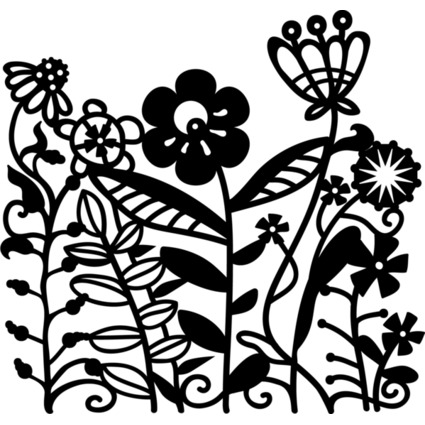 "Marabu Silhouetten-Motivschablone ""Flowerbed"""