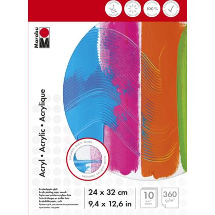 Marabu Acrylmalblock, 240 x 320 mm, 360 g/qm, 10 Blatt