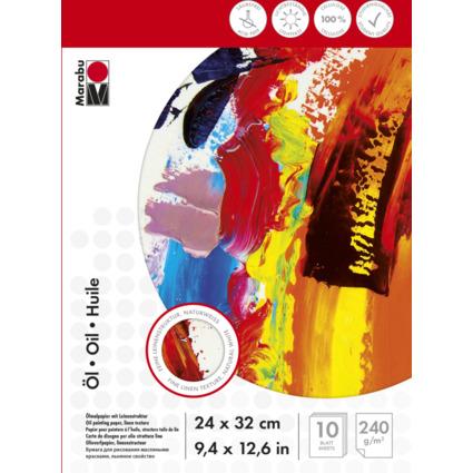 Marabu Ölmalblock, 240 x 320 mm, 240 g/qm, 10 Blatt