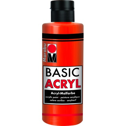 "Marabu Acrylfarbe ""BasicAcryl"", zinnoberrot hell, 80 ml"