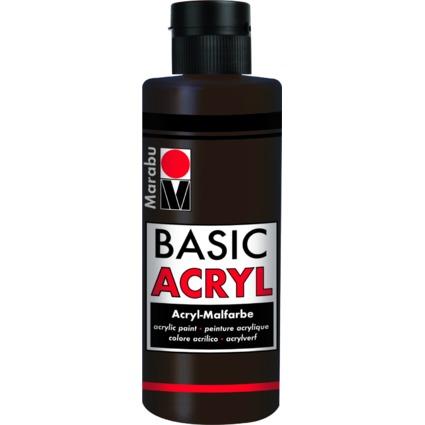 "Marabu Acrylfarbe ""BasicAcryl"", dunkelbraun, 80 ml"