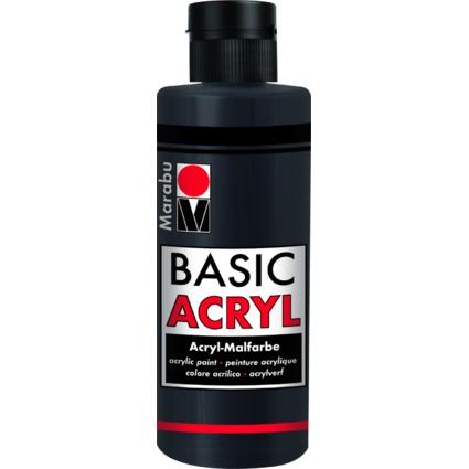 "Marabu Acrylfarbe ""BasicAcryl"", schwarz, 80 ml"