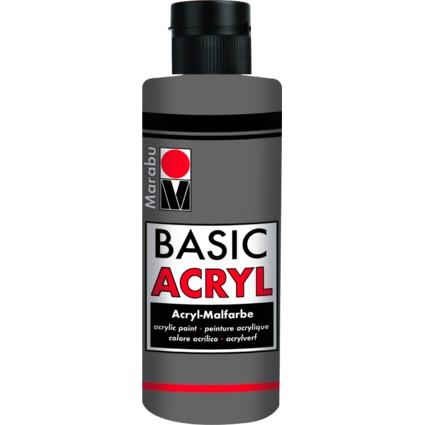 """Marabu Acrylfarbe """"BasicAcryl"""", hellgrau, 80 ml"""