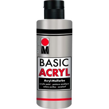"Marabu Acrylfarbe ""BasicAcryl"", metallic-silber, 80 ml"