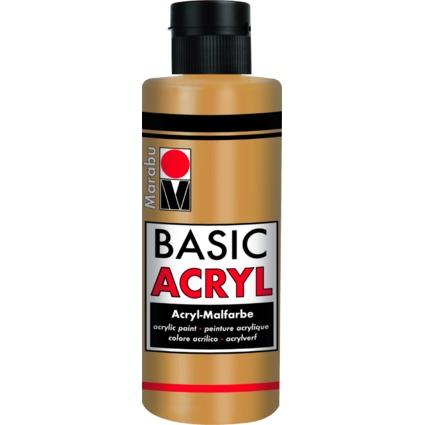 "Marabu Acrylfarbe ""BasicAcryl"", metallic-gold, 80 ml"