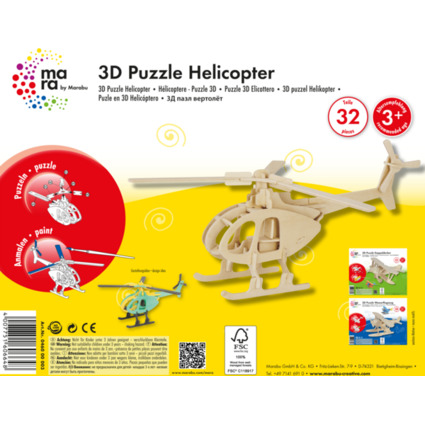 "mara by Marabu 3D Puzzle ""Hubschrauber"""