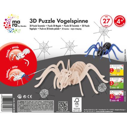 "mara by Marabu 3D Puzzle ""Vogelspinne"", 27 Holzteile"