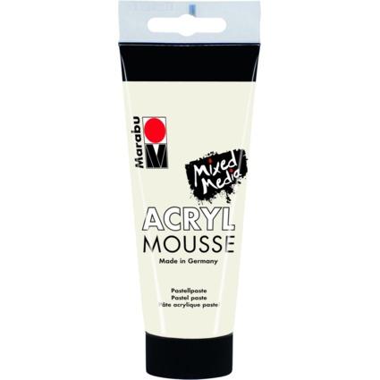 """Marabu Pastell-Acrylpaste """"ACRYL MOUSSE"""", 100 ml, weiß"""