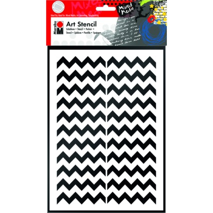 "Marabu Motivschablone ""Art Stencil"", DIN A4, Chevron Pattern"