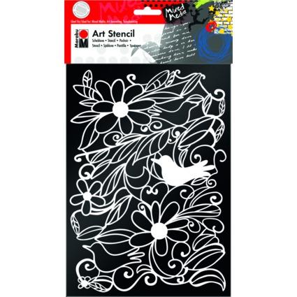 "Marabu Motivschablone ""Art Stencil"", DIN A4, Blooming Garden"