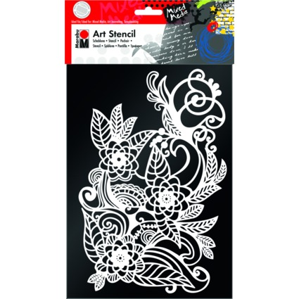 "Marabu Motivschablone ""Art Stencil"", DIN A4, Zentangle"