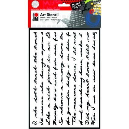 "Marabu Motivschablone ""Art Stencil"", DIN A4, Script"
