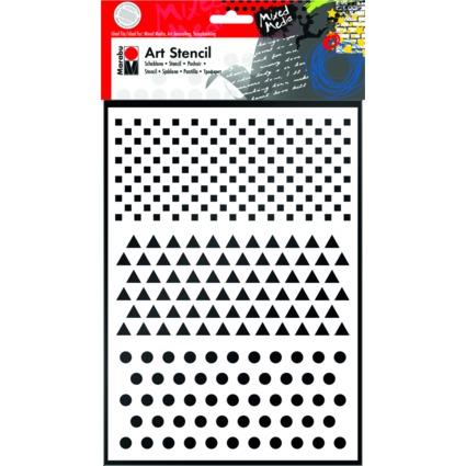 "Marabu Motivschablone ""Art Stencil"", DIN A4, Basic Comb."