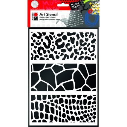 "Marabu Motivschablone ""Art Stencil"", DIN A4, Animal Print"