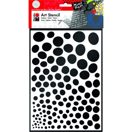 "Marabu Motivschablone ""Art Stencil"", DIN A4, Growing Dots"