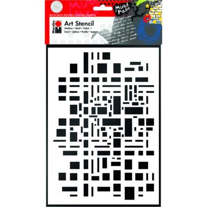 "Marabu Motivschablone ""Art Stencil"", DIN A4, Graphic Pattern"