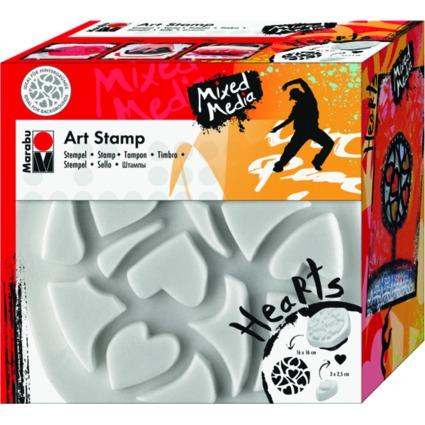 """Marabu Motivstempel """"Art Stamp"""", Hearts"""