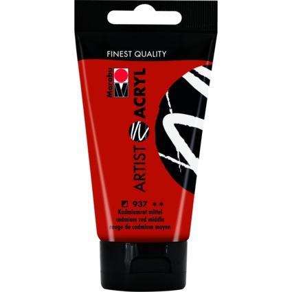 "Marabu Acrylfarbe ""Artist Acryl"", 75 ml, kadmiumrot mittel"