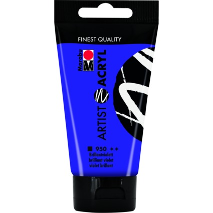 "Marabu Acrylfarbe ""Artist Acryl"", 75 ml, brillantviolett"