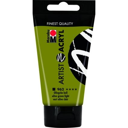 "Marabu Acrylfarbe ""Artist Acryl"", 75 ml, olivgrün hell"