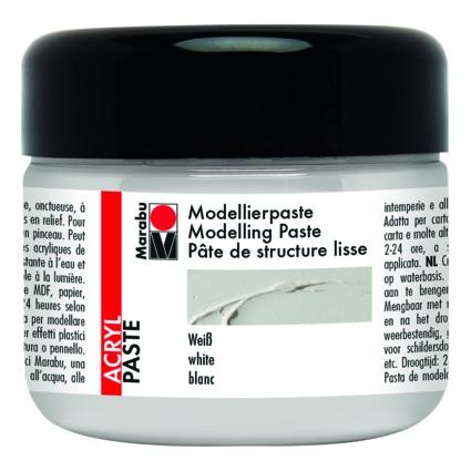 Marabu Acryl-Modellierpaste, 225 ml, weiß