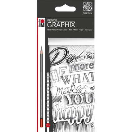 "Marabu Bleistift ""GRAPHIX"", 12er Kartonetui"