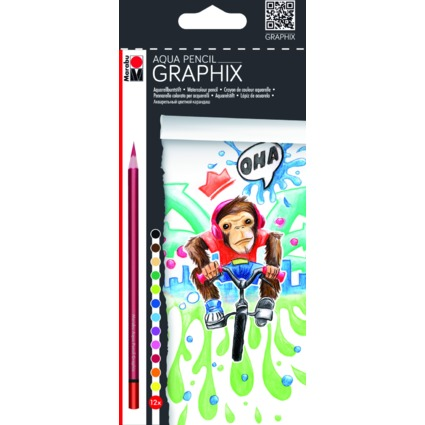 "Marabu Aquarellbuntstift ""GRAPHIX"", FUNKY MONKEY"