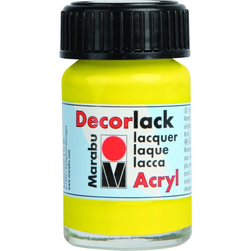 marabu acryllack decorlack gelb 15 ml im glas 11300039019 bei g nstig kaufen. Black Bedroom Furniture Sets. Home Design Ideas