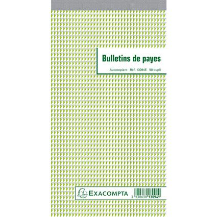 "EXACOMPTA Manifold ""Bulletins de payes"", 240 x 135 mm, dupli"