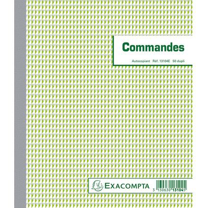 "EXACOMPTA Manifold ""Commandes"", 210 x 180 mm, dupli"
