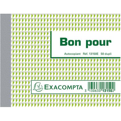"EXACOMPTA Manifold ""Bon pour"", 105 x 135 mm, dupli"