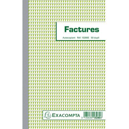 "EXACOMPTA Manifold ""Factures"", 210 x 135 mm, dupli"