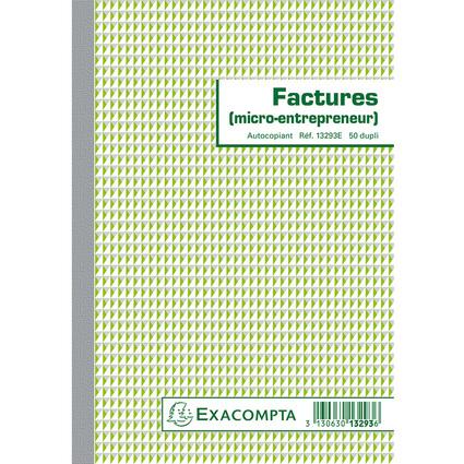 EXACOMPTA Manifold Factures micro-entrepreneur, 210 x 148 mm