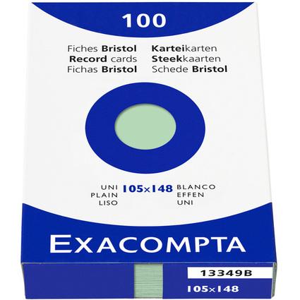 EXACOMPTA Karteikarten, DIN A6, blanko, grün