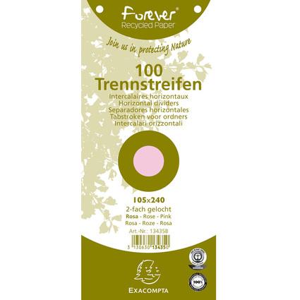 EXACOMPTA Trennstreifen 105 x 240 mm, rosa, 180 g/qm