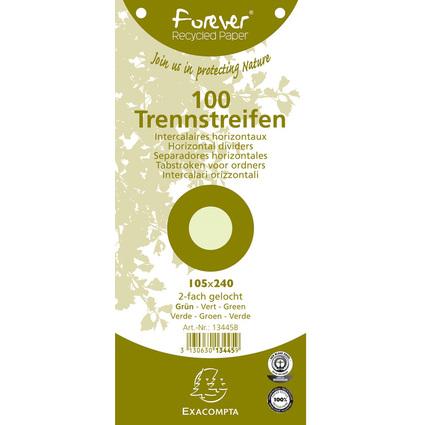 EXACOMPTA Trennstreifen 105 x 240 mm, grün, 180 g/qm