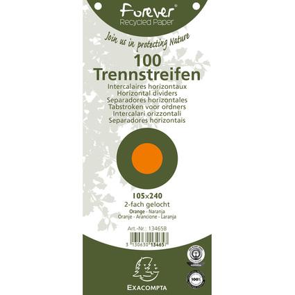 EXACOMPTA Trennstreifen 105 x 240 mm, orange, 180 g/qm