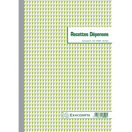 """EXACOMPTA Manifold """"Recettes et Dépenses"""", 297 x 210 mm"""