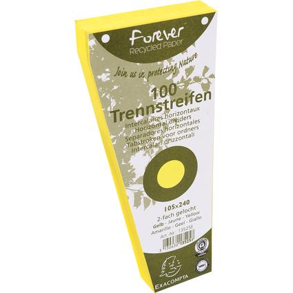 EXACOMPTA Trennstreifen, trapezförmig, Karton, gelb